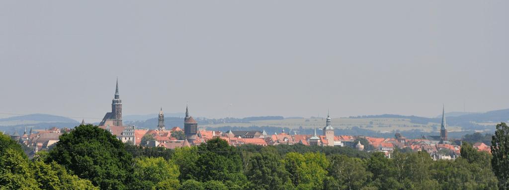 Türme-Stadt Bautzen von Westen