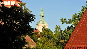 Lauenturm mit Kirche St. Michael und Mühltor
