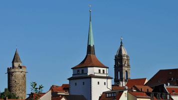 Reichenturm mit Schülerturm und Wendischem Turm vom Schützenplatz