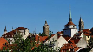 Wendischer Turm mit Schülerturm und Reichenturm vom Schützenplatz