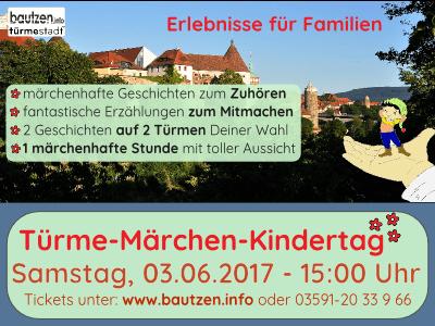 Flyer zum Türme-Märchen Kindertag 2017