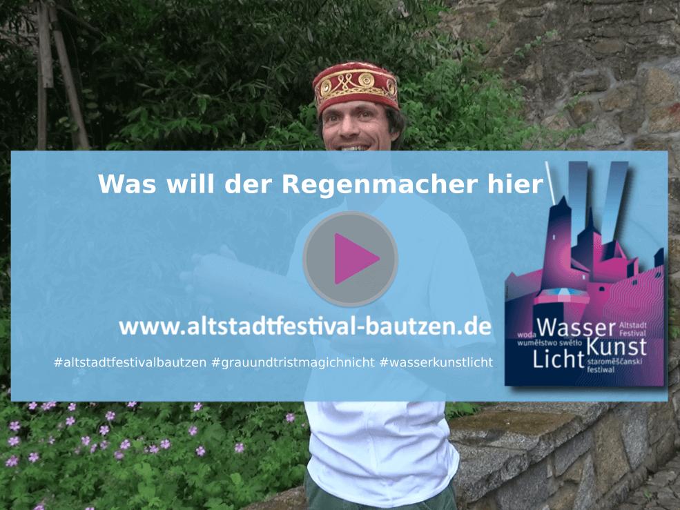 Altstadtfestival 2018 Was will der Regenmacher hier