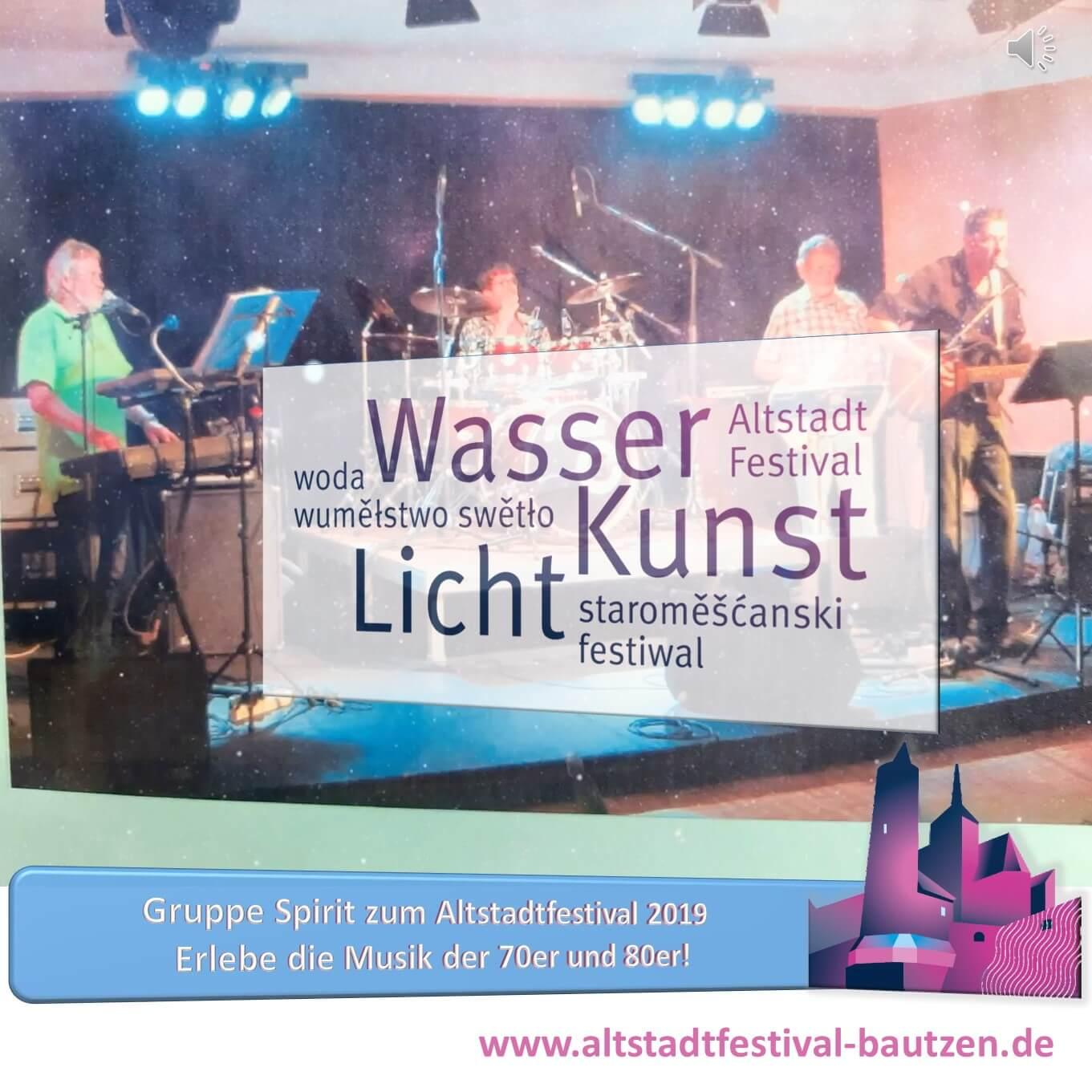 Beitragsbild Gruppe Spirit zum Altstadtfestival 2019