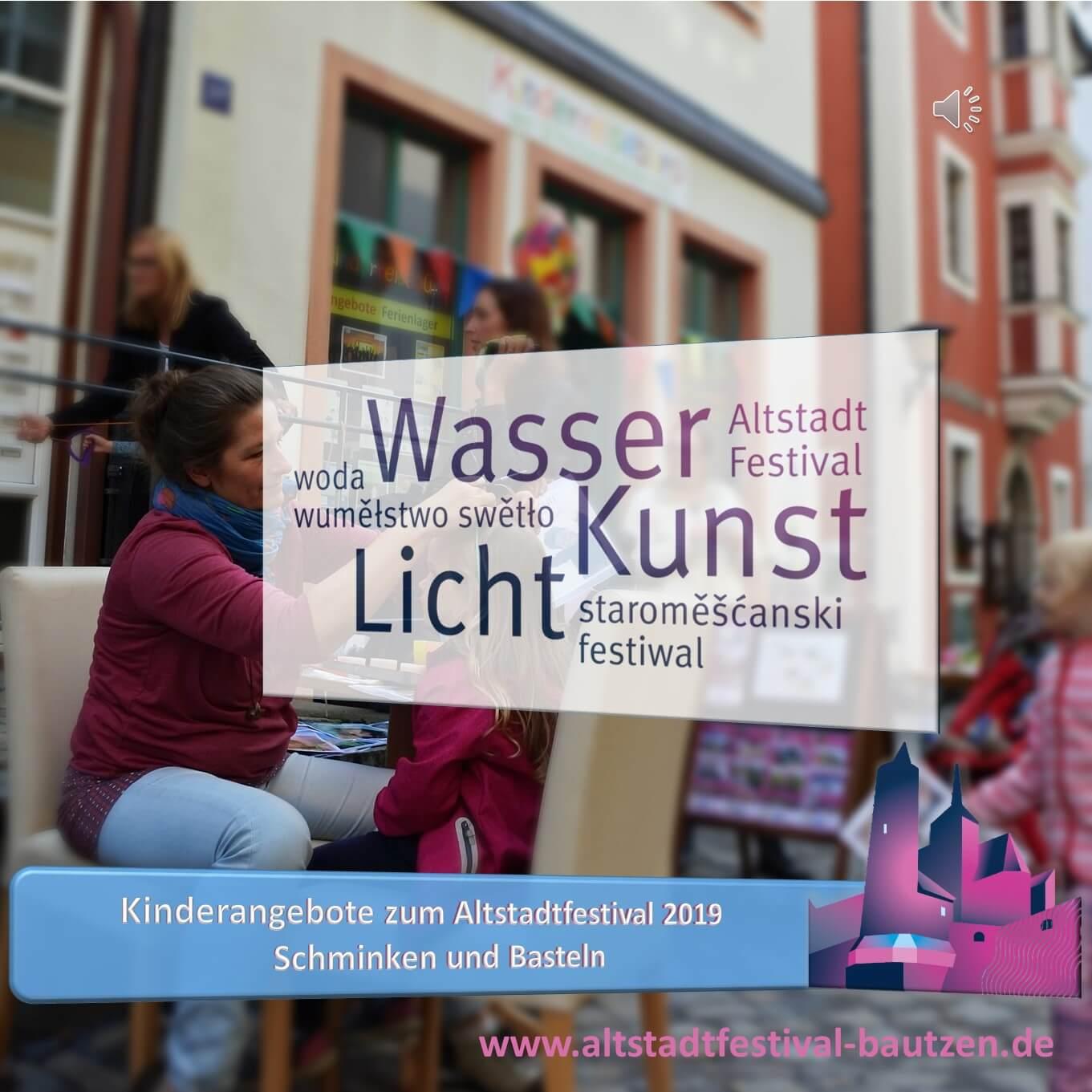 Beitragsbild Kinderreisebüro Kinderschminken zum Altstadtfestival 2019