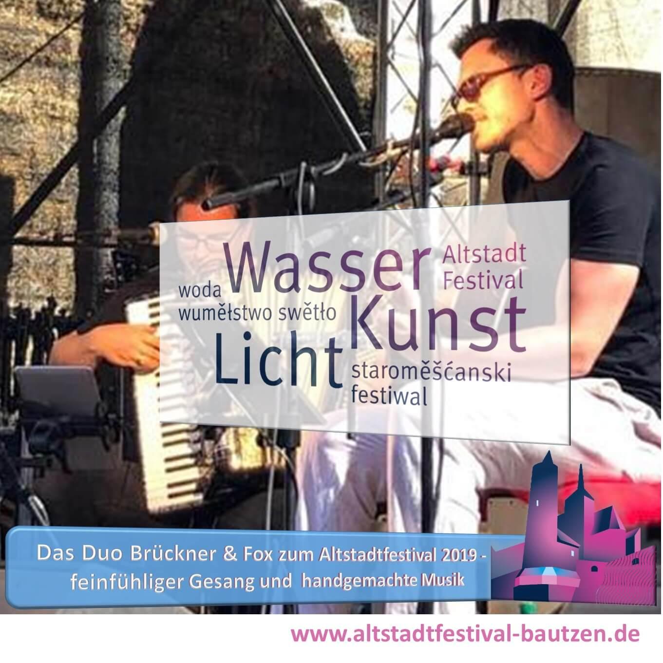 Beitrag Brückner und Fox zum Altstadtfestival 2019