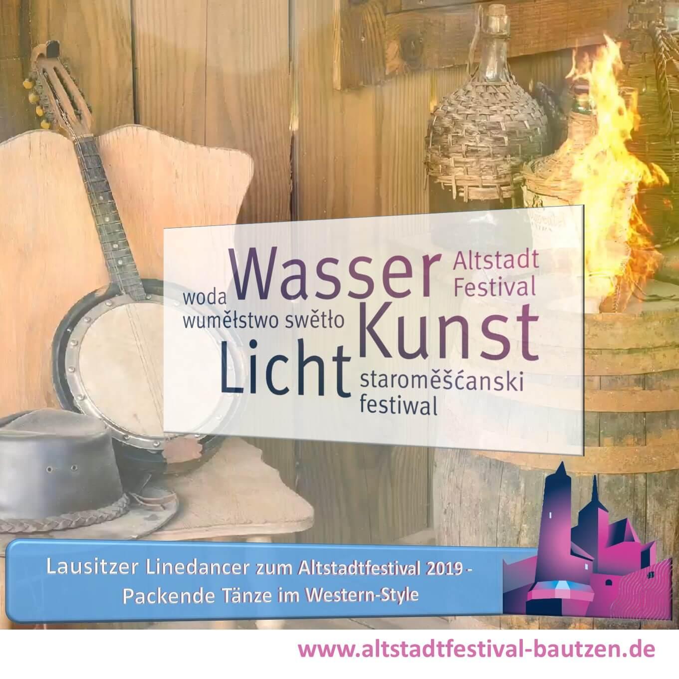 Beitrag Lausitzer Linedancer zum Altstadtfestival 2019