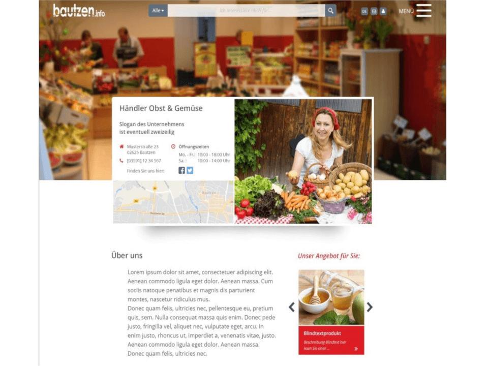 Musterseite für Händler in Bautzen online